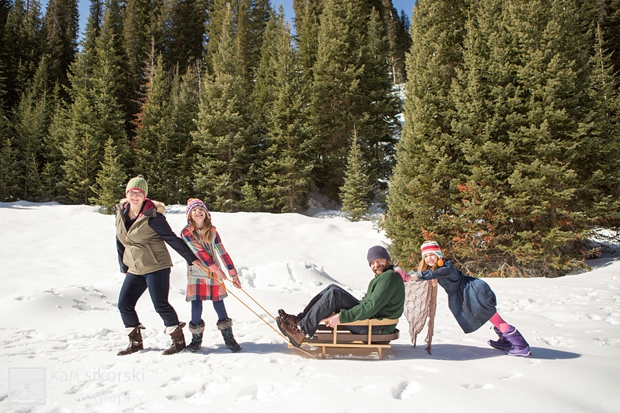 Utah Winter family portrait session