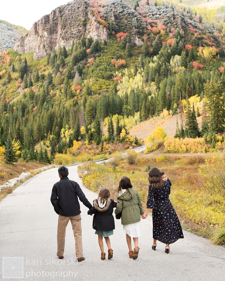 Utah fall family portrait